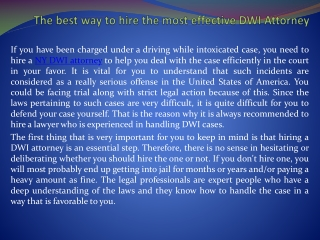 New York DWI lawyer