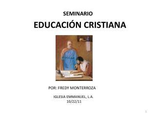 EDUCACI N CRISTIANA