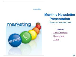 Monthly Newsletter Presentation