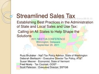 Streamlined Sales Tax
