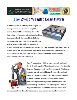 Zvelt Fat Loss Patch