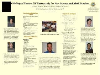 NSF-Noyce Western NY Partnership for New Science and Math Scholars By Daniel MacIsaac, Kathleen Falconer and Nevin Hende