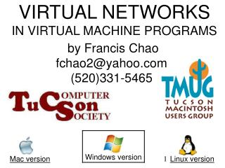 VIRTUAL NETWORKS IN VIRTUAL MACHINE PROGRAMS