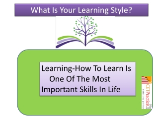 Know Your Learning Style.