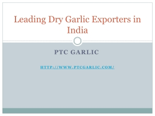 Leading Indain garlic exporters