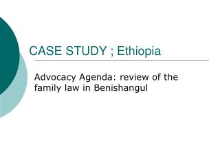 case study ; ethiopia