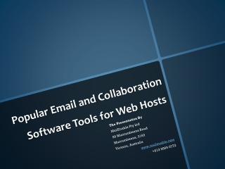 Popular Email and Collaboration Software Tools for Web Hosts