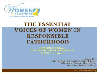 The Essential Voices of Women in Responsible Fatherhood