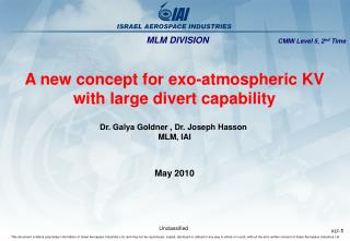 A new concept for exo-atmospheric KV  with large divert capability