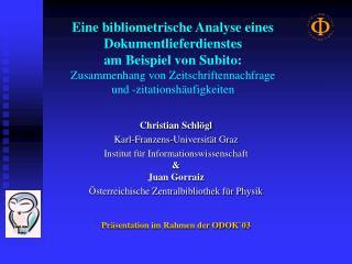 Eine bibliometrische Analyse eines Dokumentlieferdienstes  am Beispiel von Subito: Zusammenhang von Zeitschriftennachfra