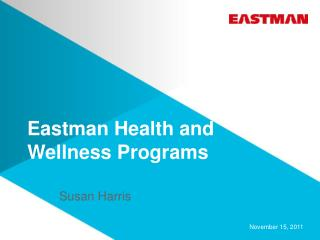 Eastman Health and Wellness Programs