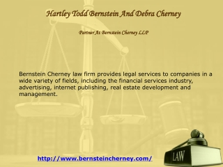 Hartley Todd Bernstein And Debra Cherney