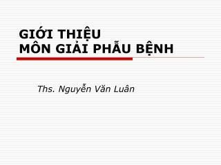 GII THIU  M N GII PHU BNH