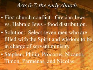 Acts 6-7: the early church