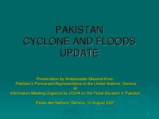 Presentation on Flood Situation 2