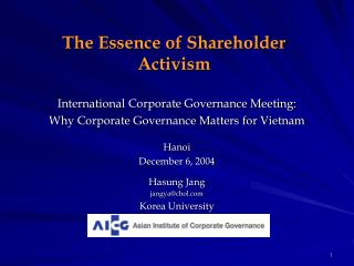 the essence of shareholder activism