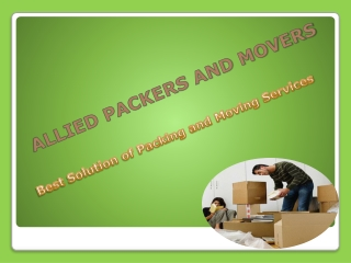 The best solution of Packing and Moving