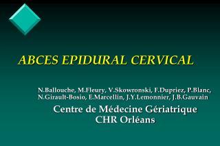 ABCES EPIDURAL CERVICAL