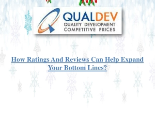 How ratings and reviews can help expand your bottom lines?