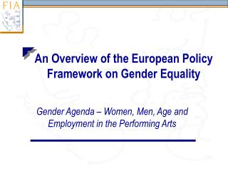 an overview of the european policy framework on gender equality