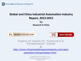Global and China Industrial Automation Market 2015
