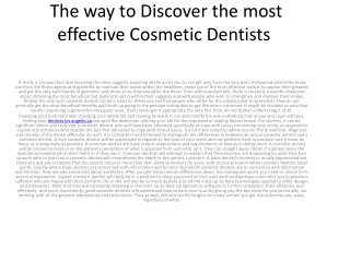 The way to Discover the most effective Cosmetic