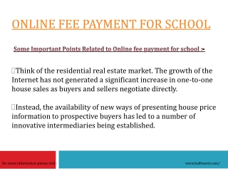 Online fee payment for school