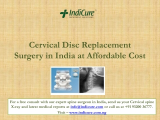 Cervical Disc Replacement Surgery in India