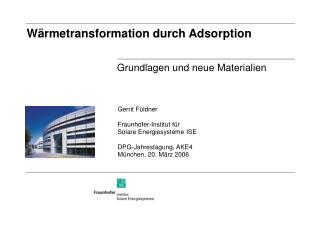 W rmetransformation durch Adsorption