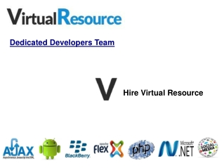 Virtual Resource – Dedicated Developers Team