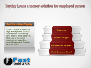 Payday loan services a quick way to money