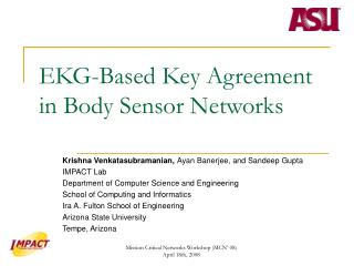 EKG-Based Key Agreement in Body Sensor Networks