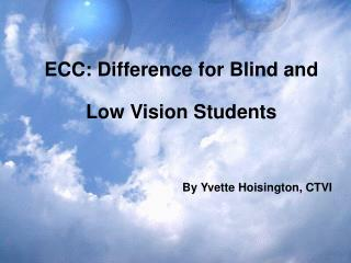 ECC: Difference for Blind and Low Vision Students