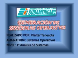 Generación de sistemas operativos