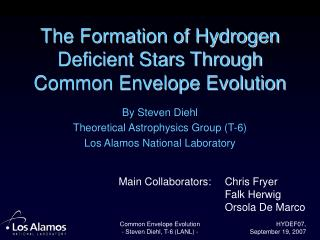 The Formation of Hydrogen Deficient Stars Through Common Envelope Evolution