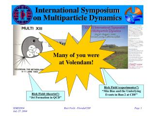 International Symposium  on Multiparticle Dynamics