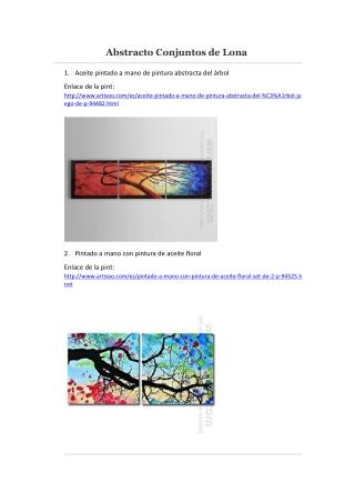 Abstracto Conjuntos de Lona -- Artisoo