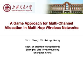 A Game Approach for Multi-Channel Allocation in Multi-Hop Wireless Networks