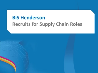 Visit BiS Henderson for Logistics
