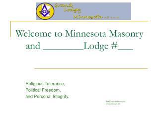 Welcome to Minnesota Masonry and ________Lodge ___
