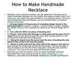 How to Make Handmade Necklace