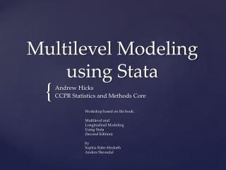 Multilevel Modeling using Stata