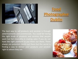 Product Photographer Ireland