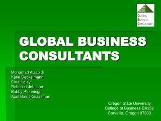 GLOBAL BUSINESS CONSULTANTS