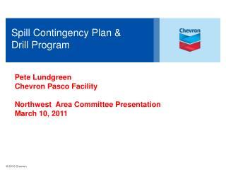 Spill Contingency Plan   Drill Program