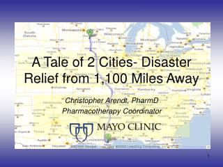 A Tale of 2 Cities- Disaster Relief from 1,100 Miles Away