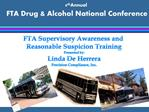 8th Annual  FTA Drug  Alcohol National Conference