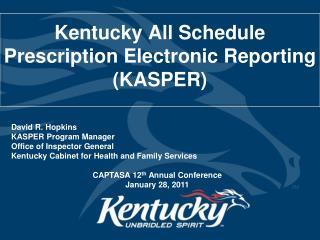 Kentucky All Schedule Prescription Electronic Reporting KASPER