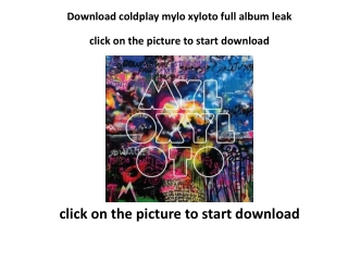 download coldplay mylo xyloto 2011 full album leak