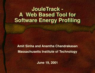 JouleTrack - A  Web Based Tool for  Software Energy Profiling
